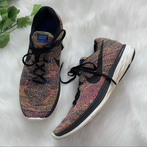 Nike Flyknit Lunar3 Colorful Rainbow Running Shoes